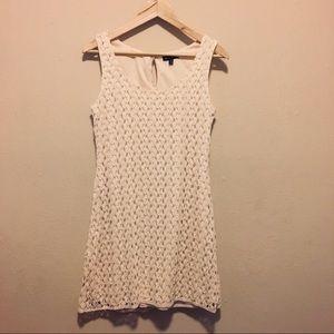 As U Wish Lace Sleeveless Sheath Mini Dress